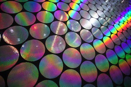 holographic: Circolare olografico patterns of sullo sfondo