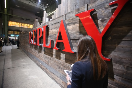 templehof: BERLIN - JANUARY 21:  Replay stand at Bread & Butter fair on January 21, 2011 in Berlin, Germany. Tens of thousands of visitors attended the tradeshow this year.