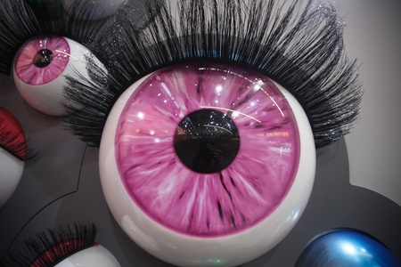over sized: colourful over sized eyes and eye lashes