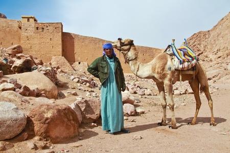 mount sinai: EGITTO - 5 febbraio: guida Camel scalata al Monte Sinai il 5 febbraio 2011 a Santa Caterina Editoriali
