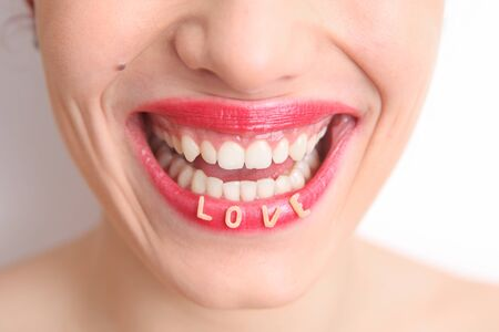 Woman with a Love smile Stock Photo - 16467304