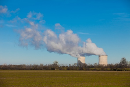 Nuclear power station extracting vapour into the atmosphere Stock Photo - 11816717