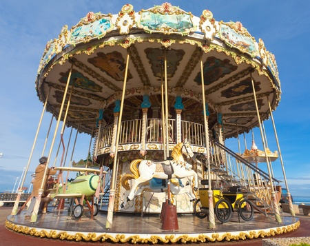 Carousel - Merry-go-round in the city of Arcachon in France