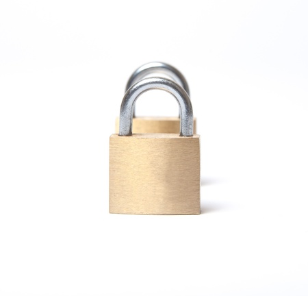 Concept of double security using padlocks photo