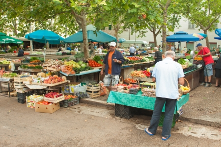SPLIT - JULY 25  People buying local produce on July 25, 2012 in Split, Croatia  Stari Pazar is Split Editorial