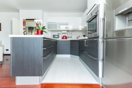 Kitchen interior in modern designed home