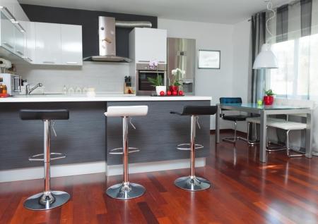 contadores: Hermosa cocina moderna casa de dise�o