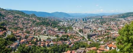 bosna: Panoramic views of the capital city of Bosnia and Herzegovina, Sarajevo