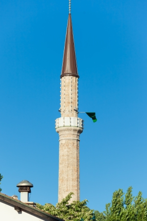 Minaret of Ferhadija Mosque in Sarajevo, Bosnia and Herzegovina photo