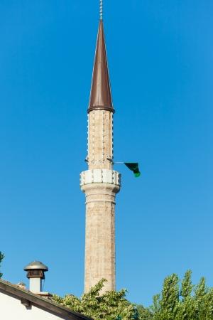 sarajevo: Minaret of Ferhadija Mosque in Sarajevo, Bosnia and Herzegovina