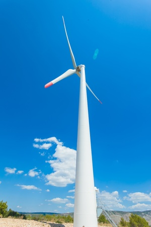 Windmill is a machine that is used to produce electricity  Stock Photo - 16814856