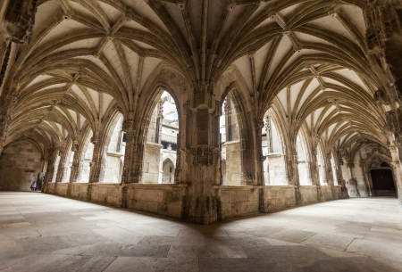 cloister: Cloister arch perspective of Cahors Cathedral in France Editorial