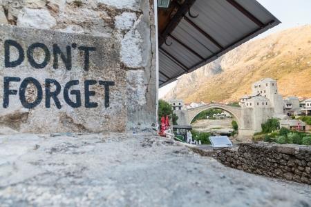 mostar: MOSTAR, BOSNIA - AUGUST 10  View of Don