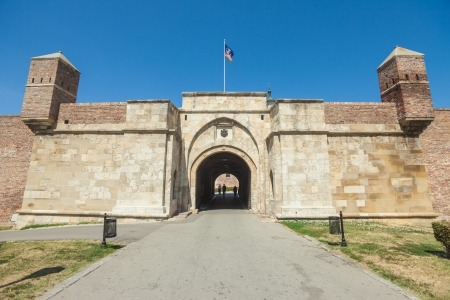 3rd century: BELGRADE, SERBIA - AUGUST 15  Entrance to Belgrade fortress on August 15, 2012 in Belgrade, Serbia  Belgrade Fortress dates back to the 3rd century when Belgrade was first founded