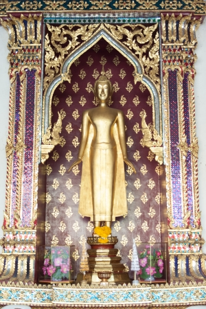 Buddha statue in the Wat Pho temple in Bangkok, Thailand photo