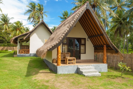 lodges: Traditional style accommodation on tropical island