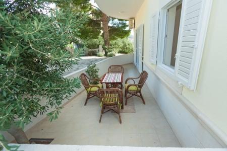 Terrace exterior of apartment in mediterranean environment photo