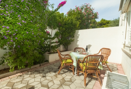 Terrace exterior of apartment in mediterranean environment Stock Photo - 19118830