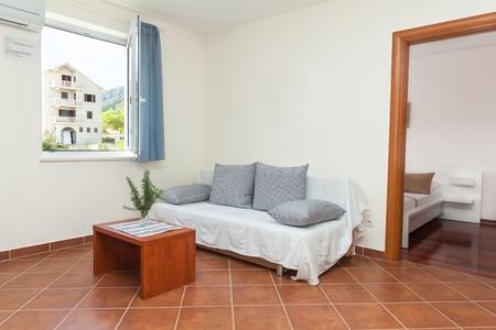 Moderne Und Helle Wohnzimmer Interieur In Haus Photo