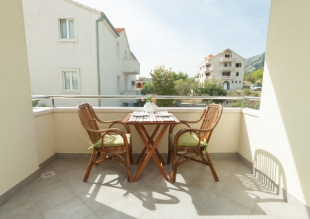 Terrace exterior of apartment in mediterranean environment Stock Photo - 19118848