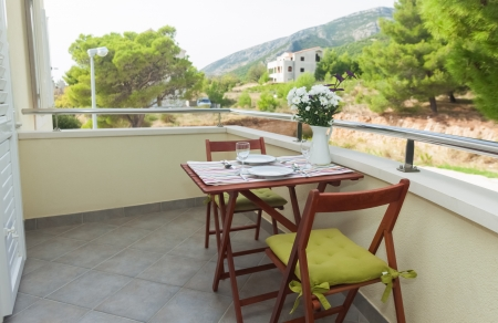 Terrace exter of apartment in mediterranean environment Stock Photo - 19118902