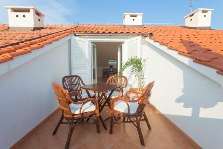 Terrace exterior of apartment in mediterranean environment Stock Photo - 19118856