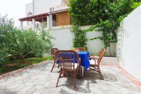 Garden terrace of apartment in mediterranean environment