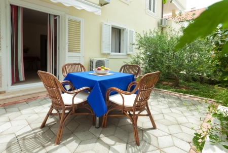 Garden terrace of apartment in mediterranean environment Stock Photo - 19118829