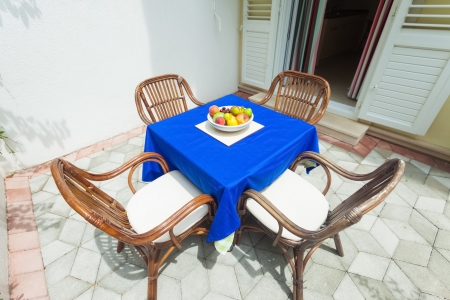 Garden terrace of apartment in mediterranean environment Stock Photo - 19118858