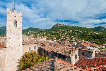 vence: Panoramic view of beautiful small village Vence in France. Stock Photo