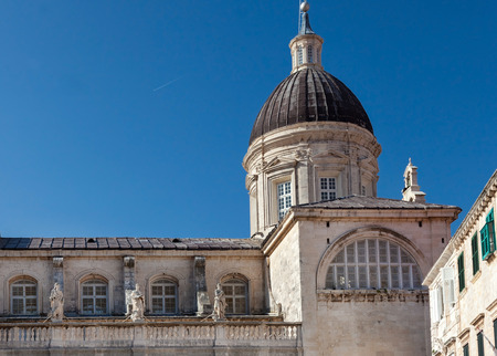 extensive: Cathedral of the Assumption of the Virgin Mary in Dubrovnik, Croatia. Inside of cathedral is a number of important paintings including one by Tatian and an extensive treasury