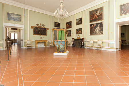 recreate: DUBROVNIK, CROATIA - MAY 27, 2014: Exhibition in the Rectors palace museum. The majority of the halls have styled furniture so as to recreate the original atmosphere of these rooms.