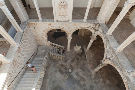 atrium: Atrium of the Rectors palace in Dubrovnik, Croatia. The Rectors Palace was the administrative centre of the Dubrovnik Republic. Today it is the home to the history department to museum of Dubrovnik.