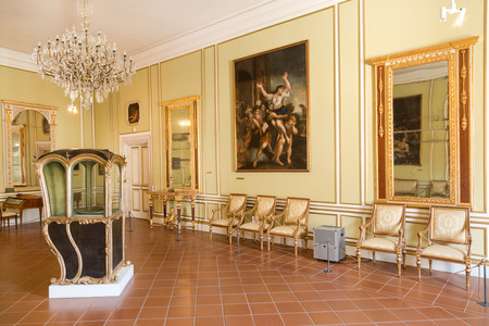 majority: DUBROVNIK, CROATIA - MAY 27, 2014: Exhibition in the Rectors palace museum. The majority of the halls have styled furniture so as to recreate the original atmosphere of these rooms.