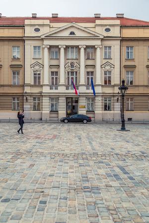 local council election: ZAGREB, CROATIA - 12 MARCH 2015: Croatian parliament in Upper town.
