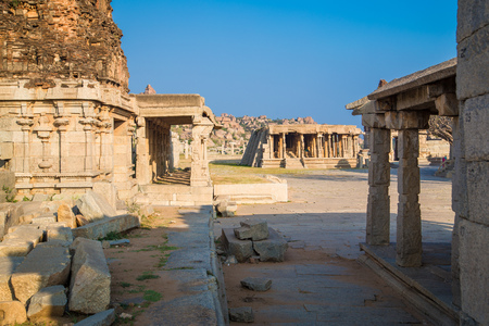 karnataka culture: Temples of Hampi, India.
