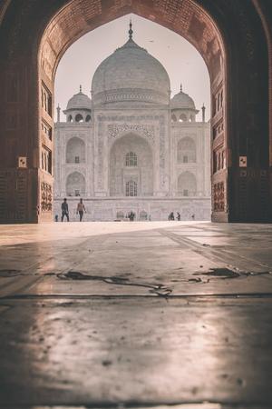 love dome: View of Taj Mahal from inside Mihman Khana. East side of Taj.