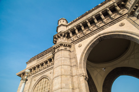 monument in india: The Gateway of India, a monument built during the British Raj in Mumbai.