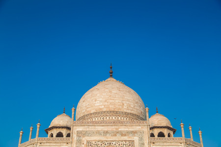 love dome: Close up view of Taj Mahal from East side. Roof part.