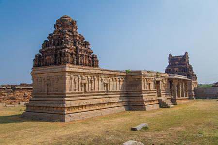 karnataka culture: Temples of Hampi, a UNESCO World Heritage Site, India. Stock Photo