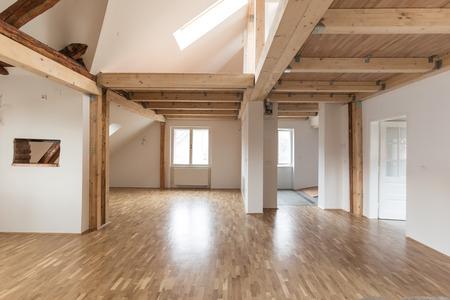 Interieur van modern huis met lege ruimte Stockfoto