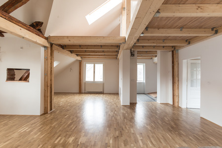 make over: Interior of modern house with empty space