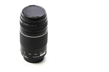 telephoto: Telephoto Camera Lens Isolated on white background