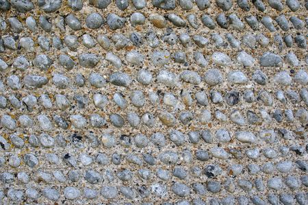 flint: Close up of the texture of a flint wall in sussex