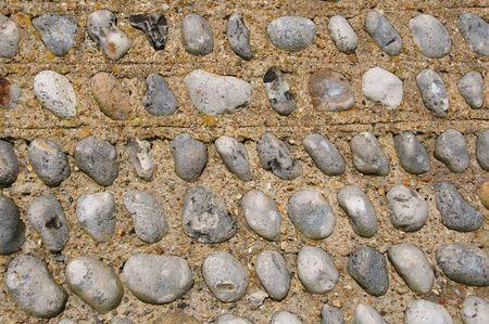 flint: Texture of a flint wall Stock Photo