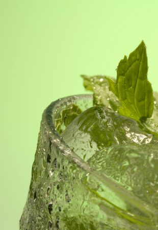 Glass of ice Water/Gin/Tonic and Mint Stock Photo - 4708245