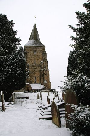feastive: Church and Graveyard in the snow