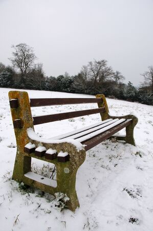 feastive: Seat in the snow Stock Photo