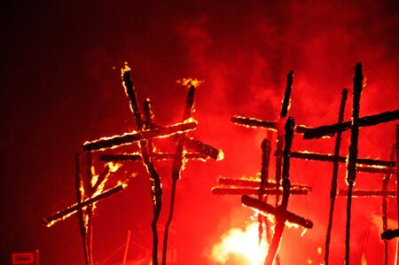 A photograph of Guy Fawkes Night/ Bonfire Night in Lewes East Sussex on November 5 2010 Stock Photo - 8202732