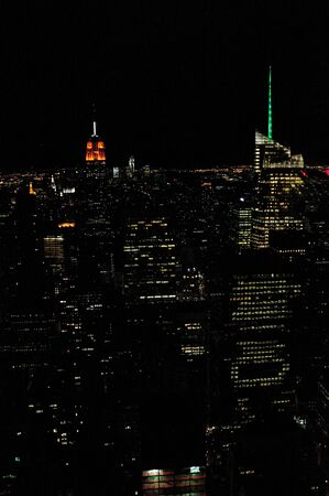 veiw: A Veiw of Manhattan at night